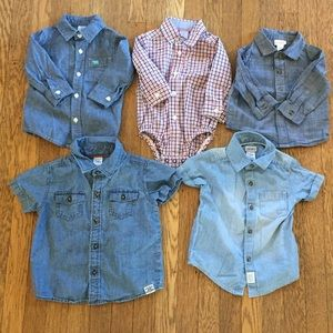 6 Piece Boy Shirt Set - 3 month to 2T!